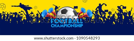 illustration of Football Championship soccer sports background