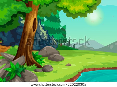 illustration of forest with a