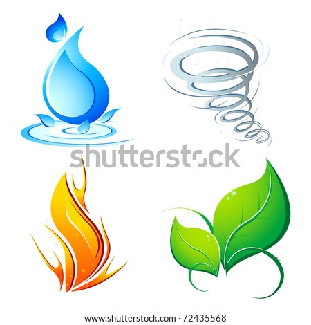 illustration of four element of