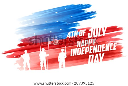 illustration of fourth of july