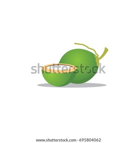 illustration of fresh coconuts