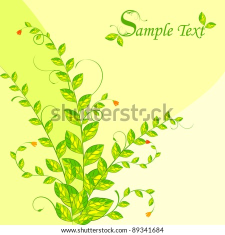illustration of fresh green plant on abstract background