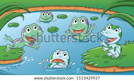illustration of frogs at the
