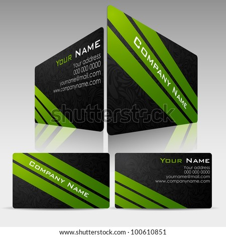 illustration of front and back of corporate business card