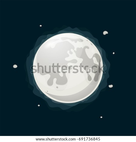 illustration of full moon in