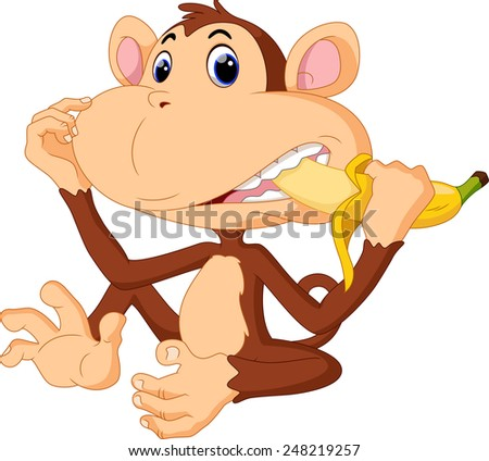 illustration of funny monkey