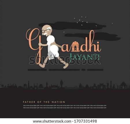 illustration of gandhi jayanti