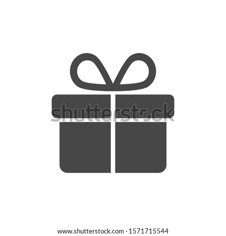 Illustration of gift box vector icon o background. Christmas gift vector icon illustration vector icon symbol. Present gift box vector icon . Package in gift wrap,