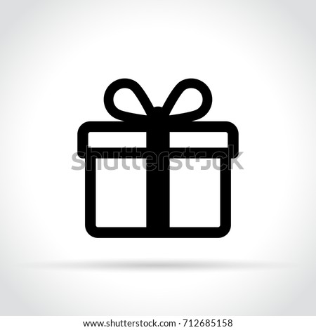 Illustration of gift icon on white background