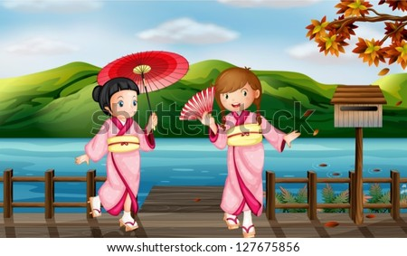 illustration of girls wearing a