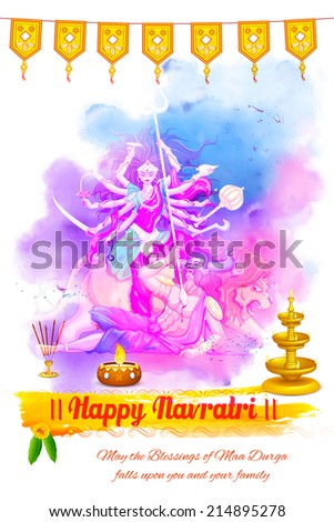 illustration of goddess durga