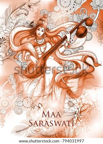 illustration of goddess of