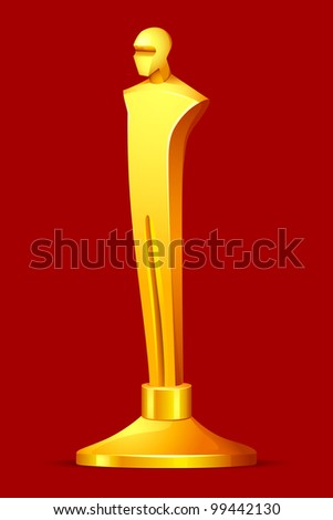 illustration of gold award in shape of male statue