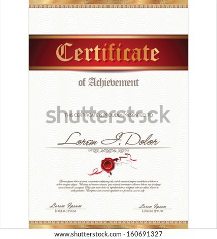 Illustration of gold detailed certificate #160691327
