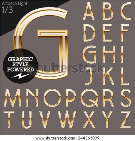 illustration of golden alphabet....