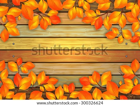 illustration of golden leaves