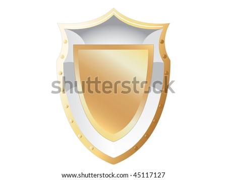 Illustration of golden shield