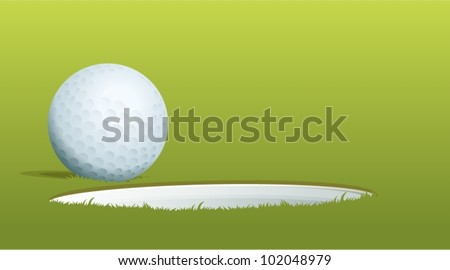 Illustration of golf ball near hole