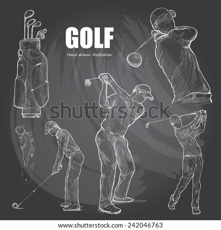 illustration of golf hand