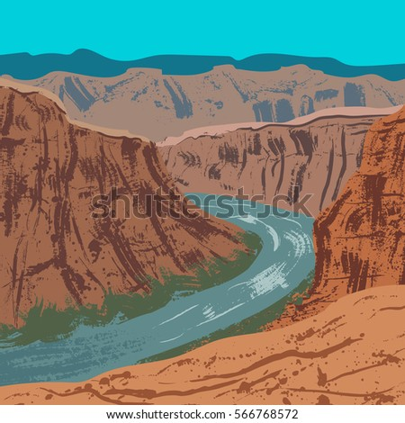 illustration of grand canyon