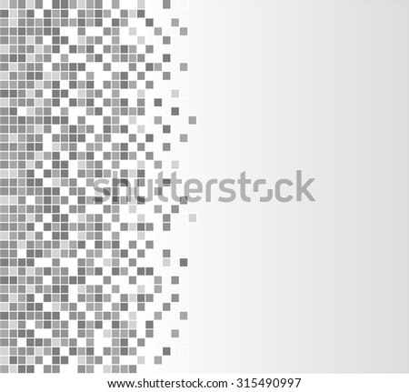 illustration of gray pixels abstract design background