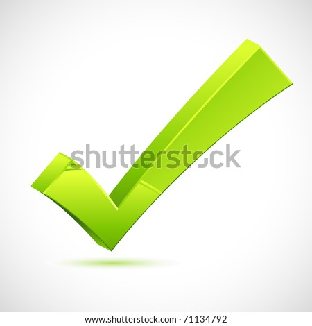 illustration of green check mark on isolated background