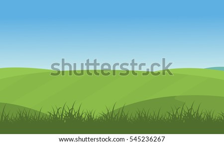 illustration of green hill