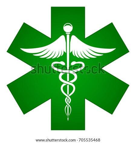 Illustration of green medical icon concept