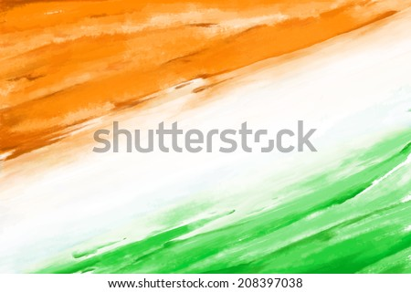 stock-vector-illustration-of-grungy-indian-flag-for-indian-independence-day