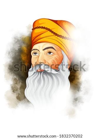 illustration of guru nanak dev