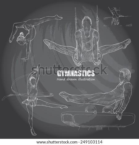 illustration of gymnastics