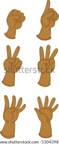 illustration of hand on a white background