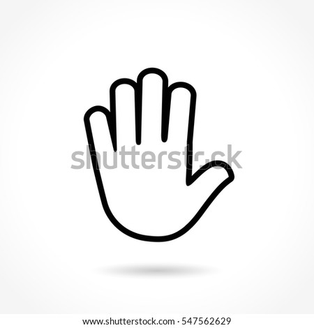 Illustration of hand thin line icon design
