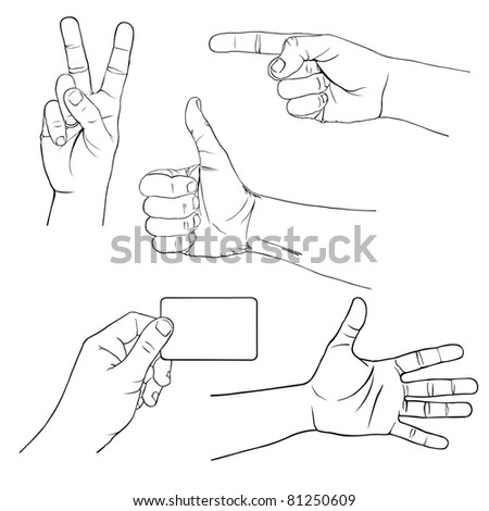 illustration of hands showing different signs