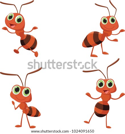 illustration of happy ant cartoon Photo stock ©
