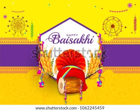 illustration of happy baisakhi
