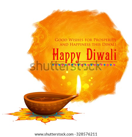 illustration of happy diwali