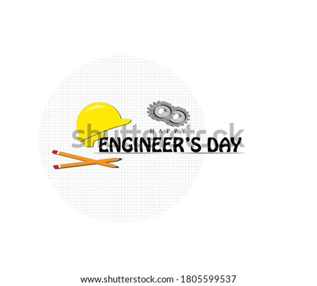 illustration of Happy Engineer's day-15 September. vector