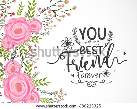 Best friends vector illustration download free vector art stock illustration of happy friendship day best friends forever typographic greeting card design m4hsunfo