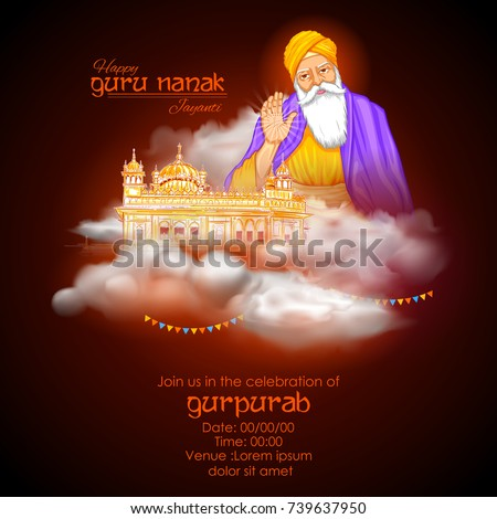 illustration of happy gurpurab