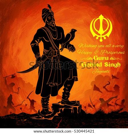 illustration of happy guru