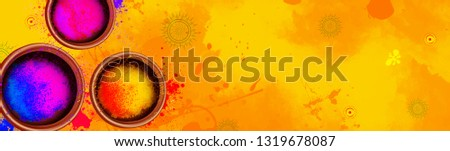 illustration of Happy Holi with colorful background for holi festival, sale, offer banner, poster, header, card