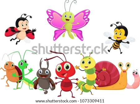 illustration of happy insect