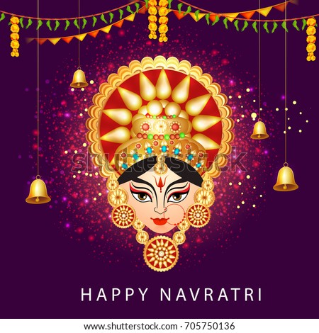 illustration of happy navratri