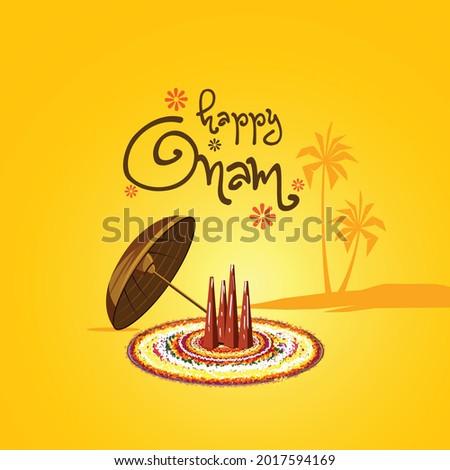 illustration of Happy Onam festival of South India Kerala