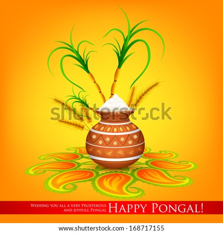 Vector images illustrations and cliparts illustration of happy illustration of happy pongal greeting background m4hsunfo