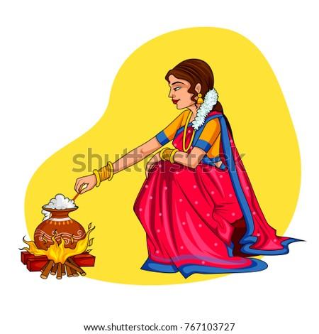 illustration of happy pongal