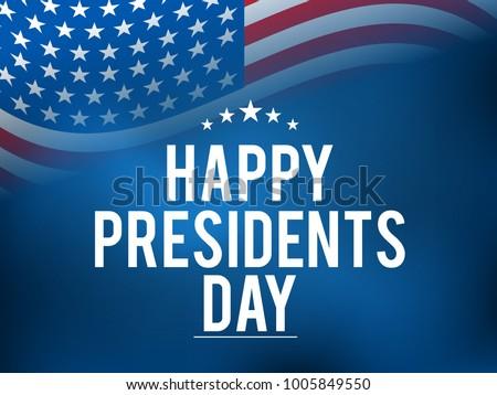 Shutterstock Illustration Of happy Presidents Day Background.