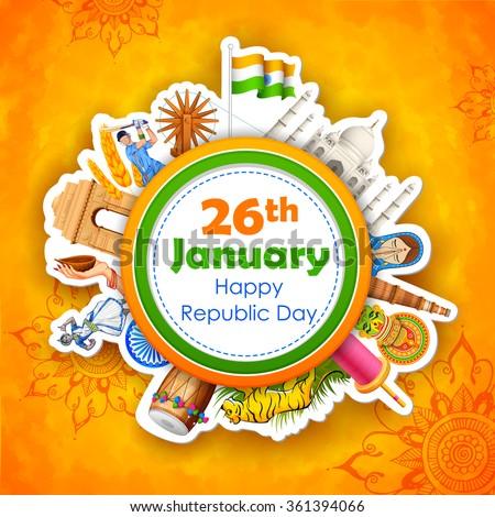 illustration of happy republic