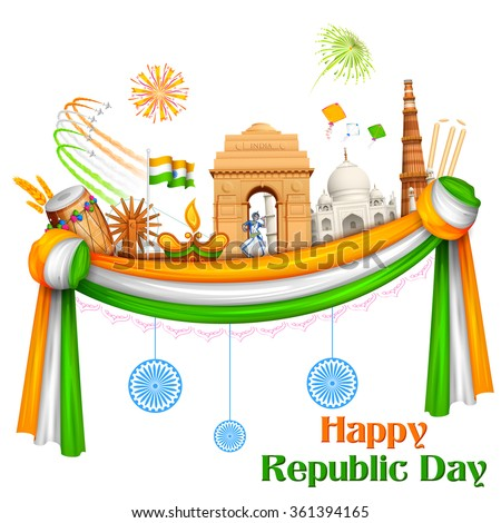 illustration of happy republic